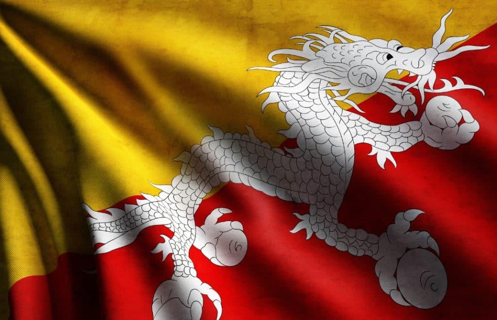 bhutan flagg