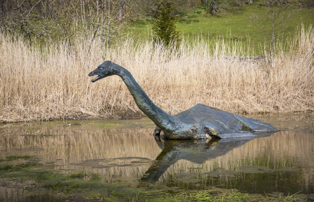 """Loch Ness Centre & Exhibition features a full size model of """"Nessie"""" The Loch Ness Monster."""